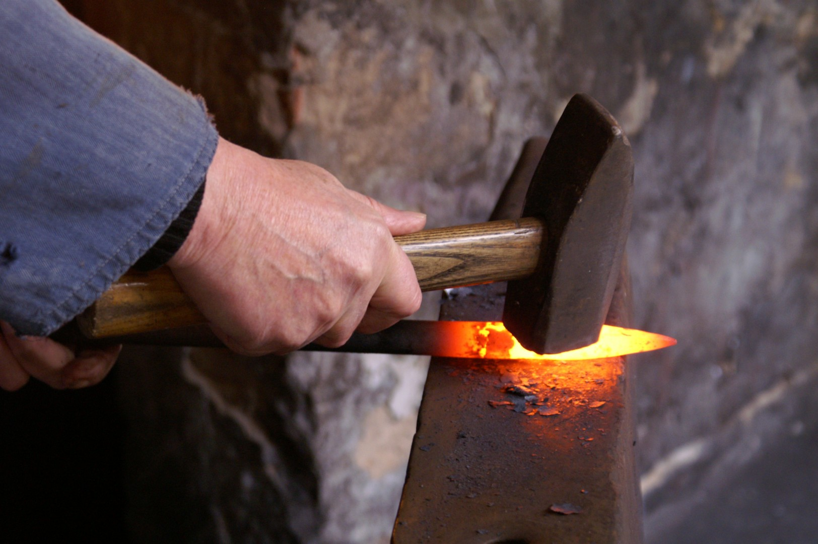 blacksmith hot iron