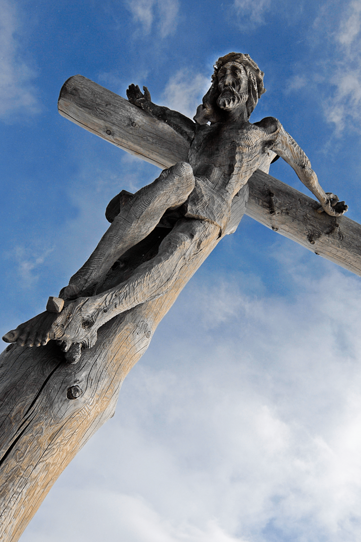 Jesus crucified on cross