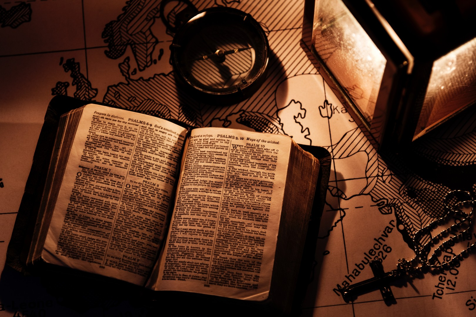 old bible with maps