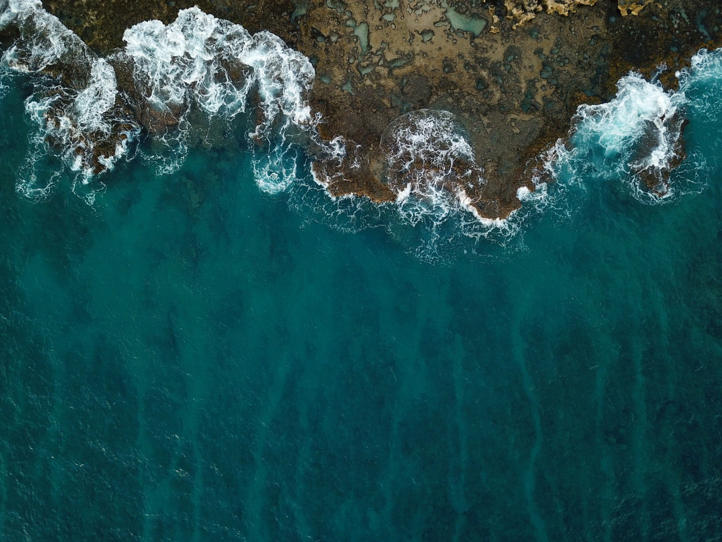 ocean and beach from above