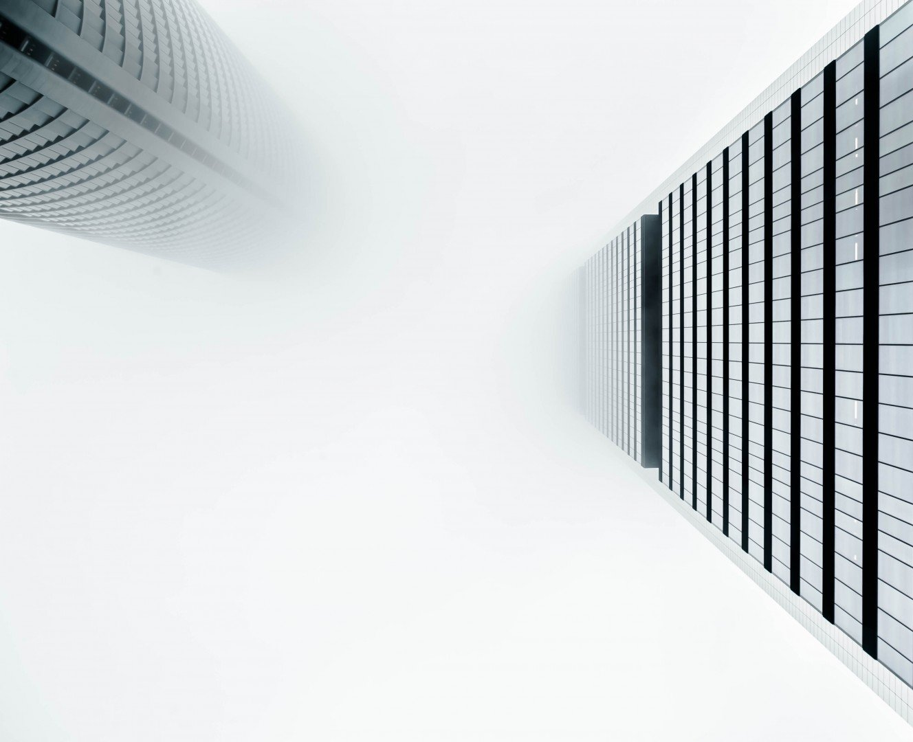 perspective of towers from below
